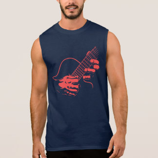 Guitar Hands II -red Sleeveless Shirt