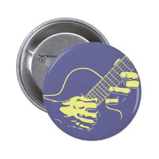 Guitar Hands II -yel Pinback Buttons