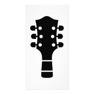 Guitar head photo card