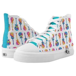 GUITAR HIGH TOP SHOES PRINTED SHOES