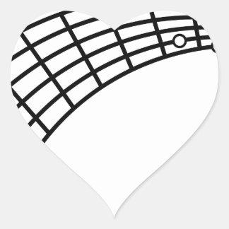 guitar humor heart sticker