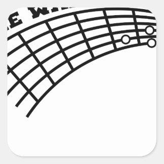 guitar humor square sticker