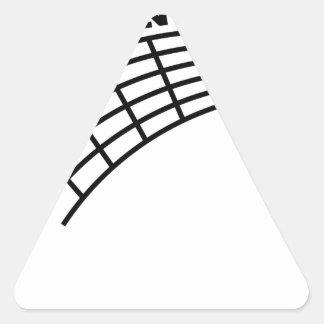 guitar humor triangle sticker