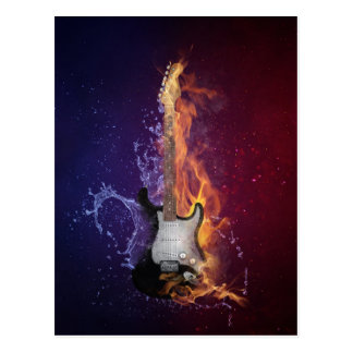 Guitar Ice and Fire Postcard