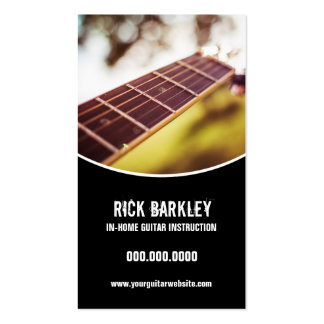 Guitar Instructor Curved Black Frame Pack Of Standard Business Cards