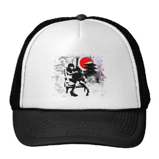 Guitar Japanese Girl Cap