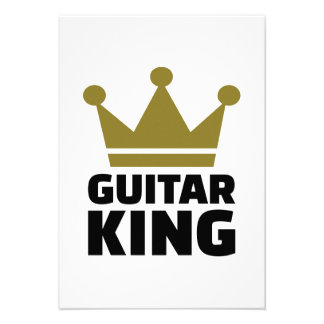 Guitar King crown Personalized Invite