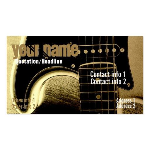 Guitar Latte Business card