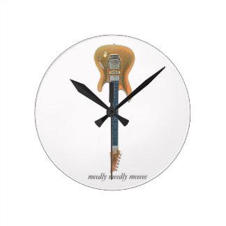 Guitar Lead Round Clock