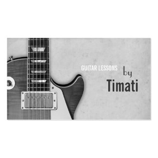 Guitar Lessons Music Instruments Instructor Business Card Templates