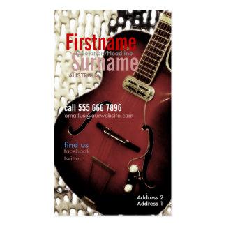 Guitar Magazine Style w/ Logo Business Card