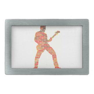 Guitar Man Rectangular Belt Buckle