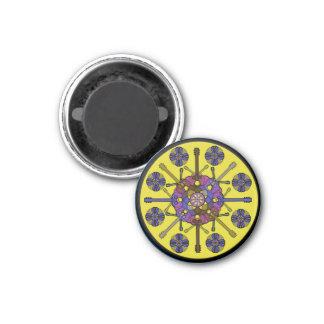 Guitar Mandala 3 Cm Round Magnet