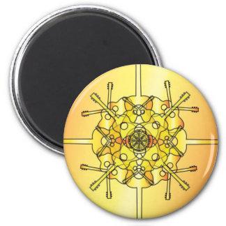 Guitar Mandala 6 Cm Round Magnet