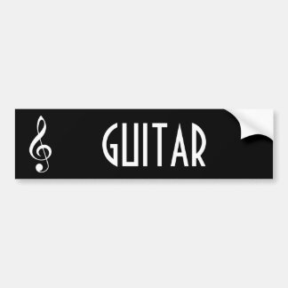 Guitar Music Bumper Sticker Gift
