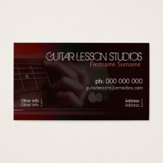 GUITAR Music Lessons Business Card