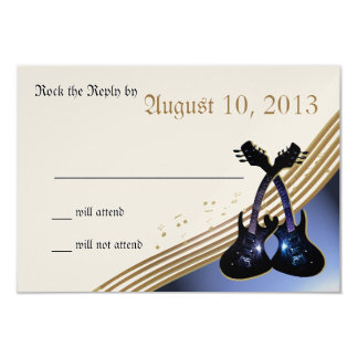 Guitar Music RSVP Card