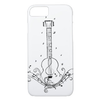 Guitar Music Sheet Swirls iPhone 7 Case