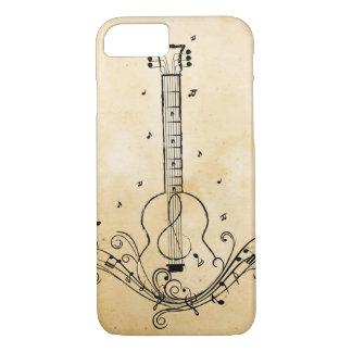 Guitar Music Sheet Swirls Paper Texture iPhone 8/7 Case