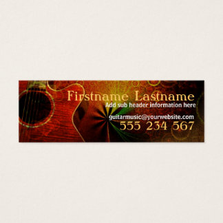 Guitar Music Sounds Mini Business Cards
