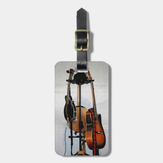 Guitar Musical Instruments Luggage Tag