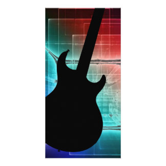 Guitar Musician card or invitation YOUR TEXT Customised Photo Card