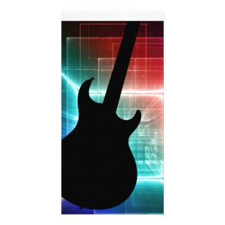 Guitar Musician card or invitation YOUR TEXT Photo Greeting Card