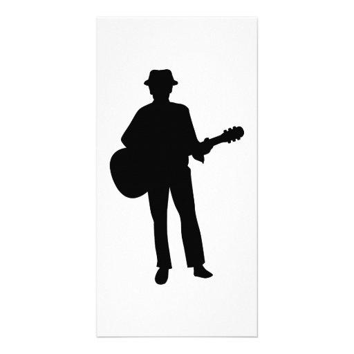 Guitar musician photo cards