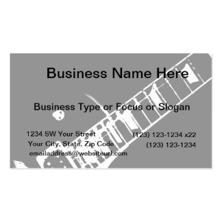 guitar neck stamp black and white business card template