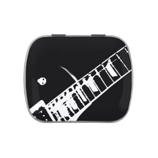 guitar neck stamp black and white jelly belly tins