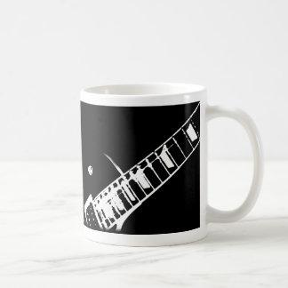 guitar neck stamp black and white coffee mug