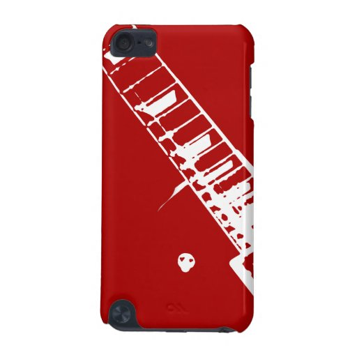 guitar neck stamp red and white musical instrument iPod touch (5th generation) case