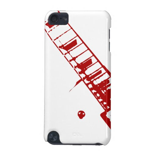 guitar neck stamp white and red instrument iPod touch 5G case