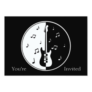 Guitar Night 13 Cm X 18 Cm Invitation Card