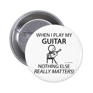 Guitar Nothing Else Matters Pinback Button