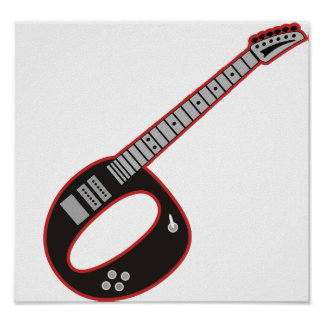 Guitar O Print
