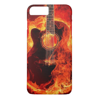 Guitar on Fire iPhone 7 Plus Case