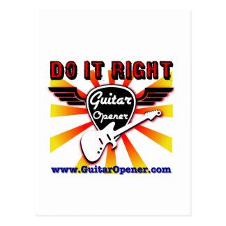 Guitar Opener - Do it right Postcard