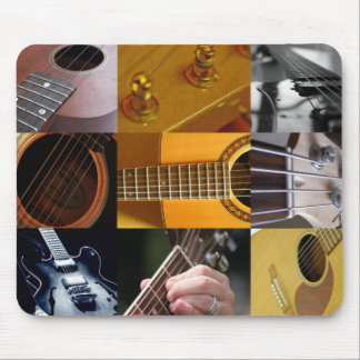 Guitar Photos Collage Mouse Pad