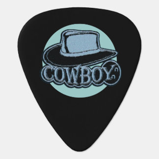 Guitar Pick Cowboy Hat Blue and Grey