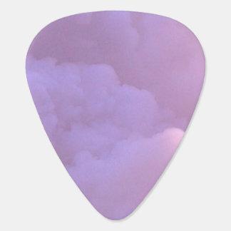 Guitar Pick - (purple clouds)