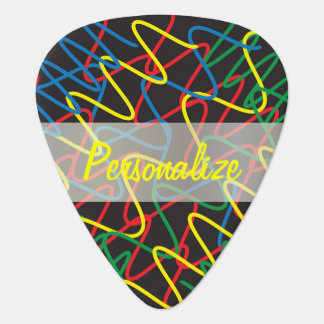 Guitar Pick - Scribble Red, Green, Blue, Yellow