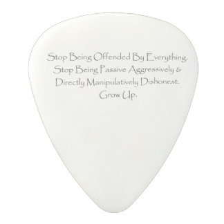 Guitar Pick. Stop Being Offended Polycarbonate Guitar Pick