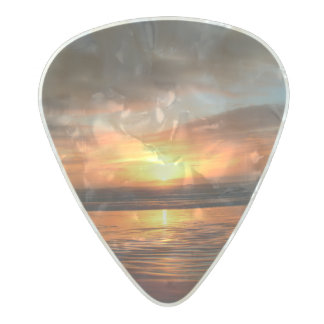 Guitar Pick - Sunset