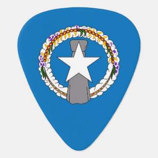 Guitar pick with Flag of Northern Mariana Islands