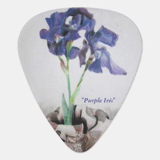 "Guitar Pick with ""Purple Iris"" by ALarsenArtist"