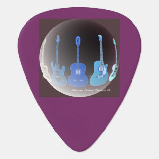 Guitar Pick with The Guitars Art