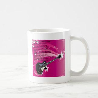 Guitar - Pink  Friend Poem Coffee Mug