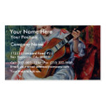 Guitar Player By Pierre-Auguste Renoir Business Card Template