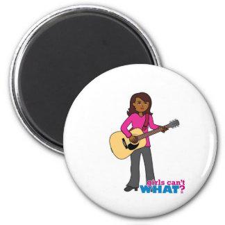 Guitar Player - Dark Refrigerator Magnets